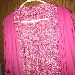 Plus size nightgown with matching robe